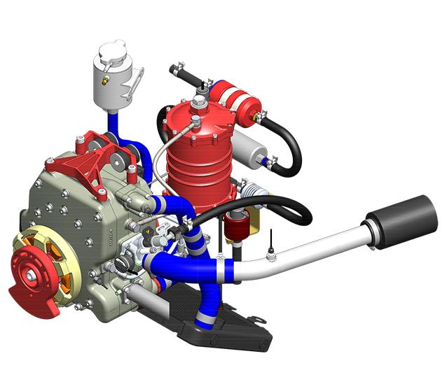 225CS-017 – 40 BHP <br/>UAV Propulsion System <span>2kW Starter Generator</span>