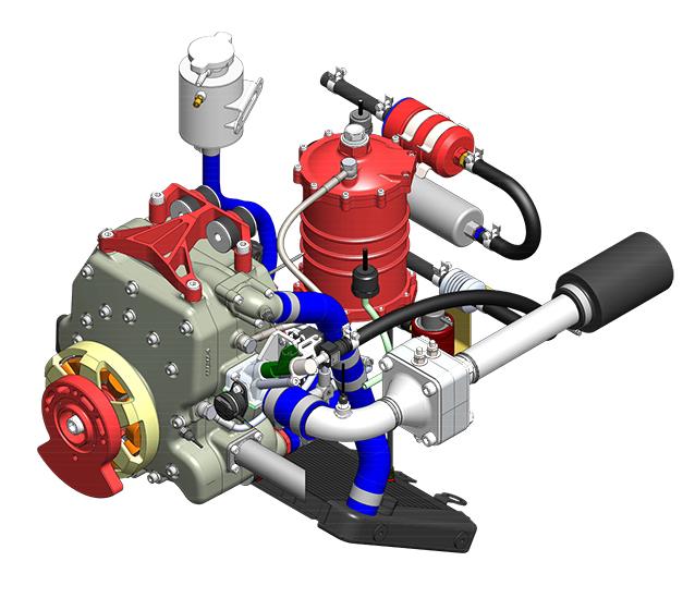 225CS-018 – 36 BHP <br/>UAV Propulsion System <span> 2kW Starter Generator</span>